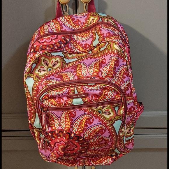 Vera Bradley paisley backpack nwot very clean
